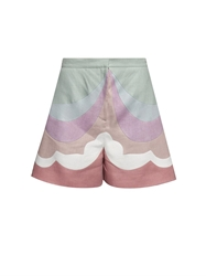 Valentino Rainbow Wide Leg Shorts