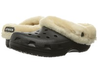 Crocs Classic Mammoth Luxe Black Clog Shoes
