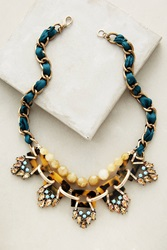 Anthropologie Cyprien Bib Necklace Green