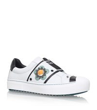 Fendi Flower Skate Sneakers Female White