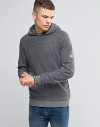Bench Overhead Hoodie With Contrast Cuffs Navy