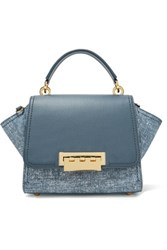 Zac Zac Posen Eartha Denim Effect Leather Tote Storm Blue