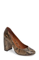 Linea Paolo Women's 'Brooke' Block Heel Pump Taupe Black Leather