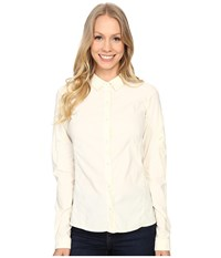 Arc'teryx Fernie Long Sleeve Shirt Vintage Ivory Women's Clothing White