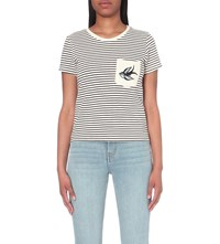 Maje Sailor Cotton T Shirt Two Tone