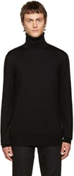 Balmain Black Side Zip Turtleneck