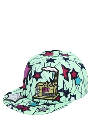 Atelier Vlisco Printed Cotton Hat With Patches Multi