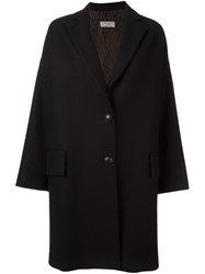 Alberto Biani Buttoned Mid Length Coat Black