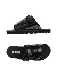 Msgm Footwear Sandals Men Black