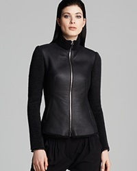 Armani Collezioni Jacket Caban Leather