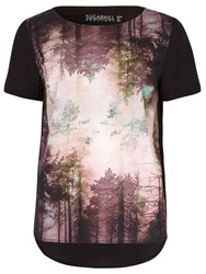 Sugarhill Boutique Brittany Woodland Tee Top Black