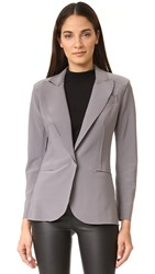 Norma Kamali Single Breasted Bonded Jacket Slate