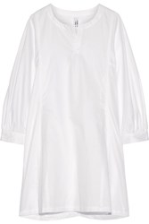 Comme Des Garcons Cotton Poplin Shirt Dress White