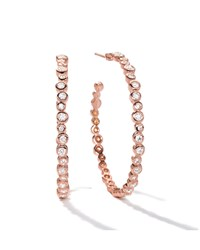 Starlet 3 18K Rose Gold Diamond Hoop Earrings Ippolita