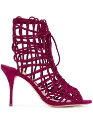 Sophia Webster 'Delphine' Sandals Pink And Purple