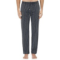 Barneys New York Men's Striped Pajama Pants Navy White Navy White