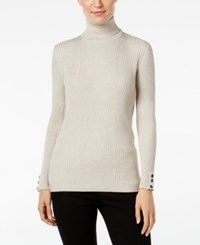 Styleandco. Style Co. Petite Ribbed Turtleneck Sweater Only At Macy's Hammock Heather