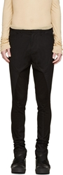 Julius Black Panelled Harem Trousers