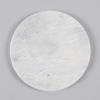 Broste Large Round Marble Plate White