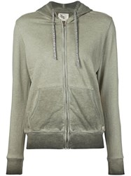 321 Washed Effect Hoodie Green