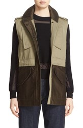 Rag And Bone Women's 'Kinsley' Colorblock Cotton Vest Army Green
