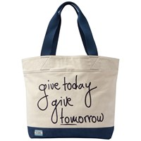 Toms Give Today Give Tomorrow Signature Tote Bag Natural