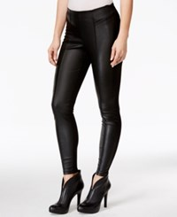 Guess Faux Leather Snake Detail Leggings Jet Black