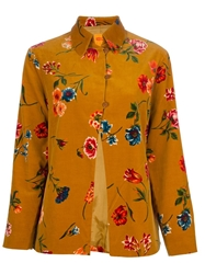 Kenzo Vintage Floral Printed Shirt Yellow And Orange