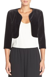 Alex Evenings Velvet Bolero Black