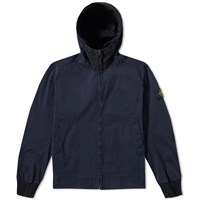 Stone Island David Jersey Tc Hooded Jacket Blue