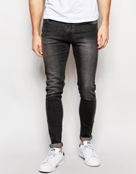 Criminal Damage Skinny Jeans In Acid Wash Grey