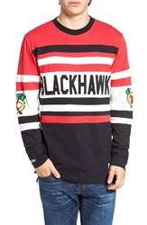 Mitchell And Ness Men's Blackhawks Open Net Pullover