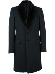 Fendi Mink Fur Lapel Coat Black