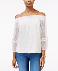 American Rag Off The Shoulder Lace Top Only At Macy's Egret