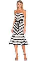 Alexis Kirsten Strapless Dress Black And White
