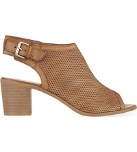 Carvela Audrey Peep Toe Shoe Boots Tan