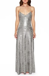 Willow And Clay Women's Strappy Foil Maxi Dress