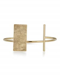 Panacea Golden Scratched Bar Cuff Bracelet