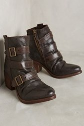 Anthropologie Millennial Grand Buckle Ankle Boots Chocolate