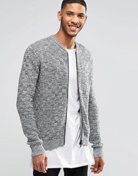 Religion Textured Knit Jacket Grey