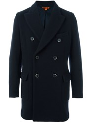 Barena Double Breasted Coat Blue