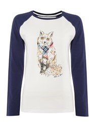 Dickins And Jones Phoebe Fox Tee Ivory