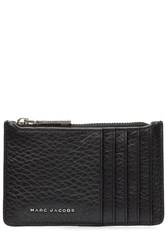 Marc Jacobs Two Tone Leather Card Zip Pouch Black