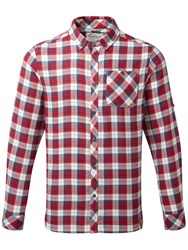 Craghoppers Men's Kearney Long Sleeved Checked Shirt Red