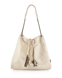 Cervo Soft Leather Shoulder Tote Bag Cream Henry Beguelin