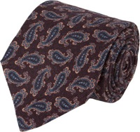 Isaia Paisley Neck Tie Purple