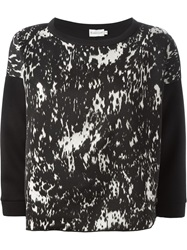 Moncler Cropped Sleeve Sweater Black