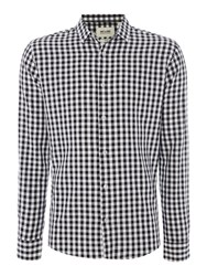 Only And Sons Long Sleeve Gingham Shirt Black