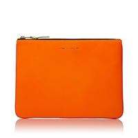 Comme Des Garcons Sa5100sf New Super Fluo Wallet Orange And Pink
