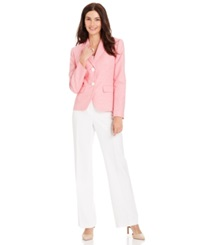 Le Suit Two Button Striped Jacket Pantsuit Strawberry Vanilla Ice